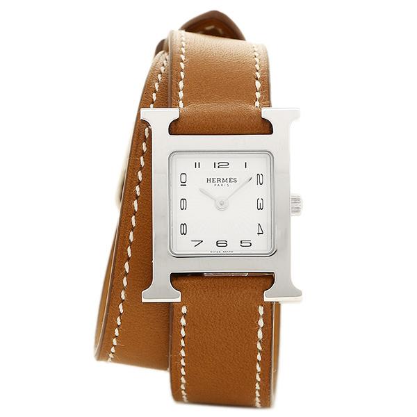 HERMES 時計 レディース エルメス W036717WW00 HH1.210.131/VBA1 Hウォッチ ブラウン/シルバー/ホワイト