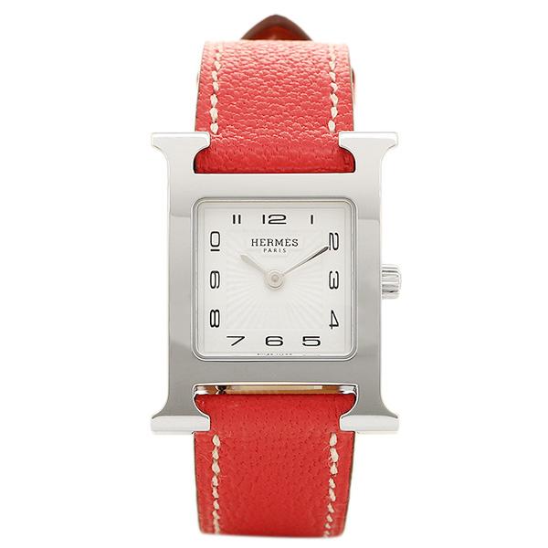 HERMES 時計 レディース エルメス W038276WW00 HH1.210.131/OOA5 レッド/シルバー/ホワイト