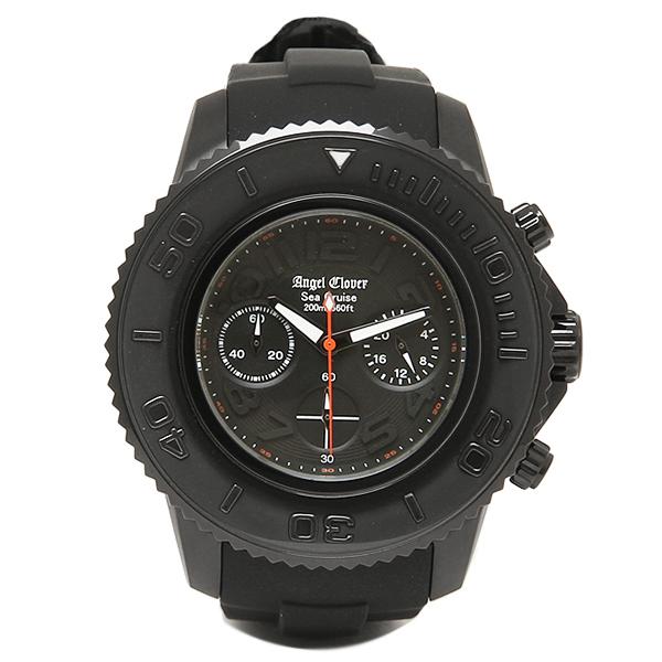 エンジェルクローバー 時計 メンズ ANGEL CLOVER SC47BBK-BK SEA CRUISE シークルーズ 200m防水 腕時計 ウォッチ ブラック