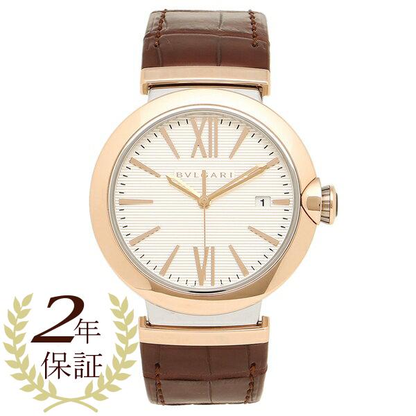 ブルガリ 腕時計 レディース BVLGARI LU40C6SPGLD シルバー ローズゴールド ブラウン