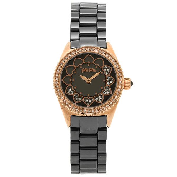 フォリフォリ 腕時計 レディース FOLLI FOLLIE WF13B018BSK LOVETIME ウォッチ/時計 ブラック