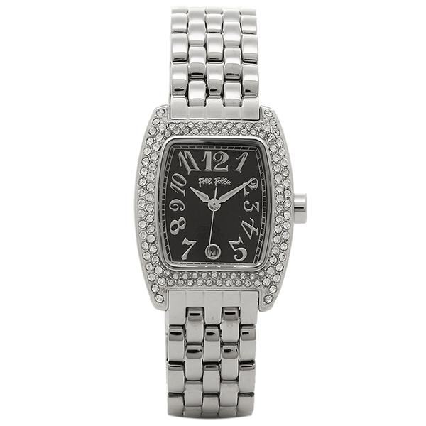 フォリフォリ 時計 FOLLI FOLLIE 腕時計 レディース WF5T081BDK ブラック/シルバー ウォッチ
