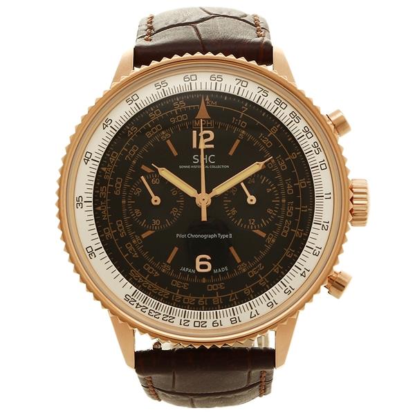 HI004PG-BR 腕時計 ゴールド ゾンネ ブラウン SONNE