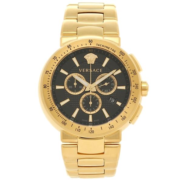 VERSACE 腕時計 ヴェルサーチ VFG190016 ブラック ゴールド