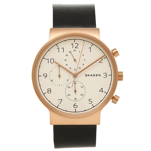 スカーゲン SKAGEN 腕時計 SKW6371 ホワイト ローズゴールド ブラック