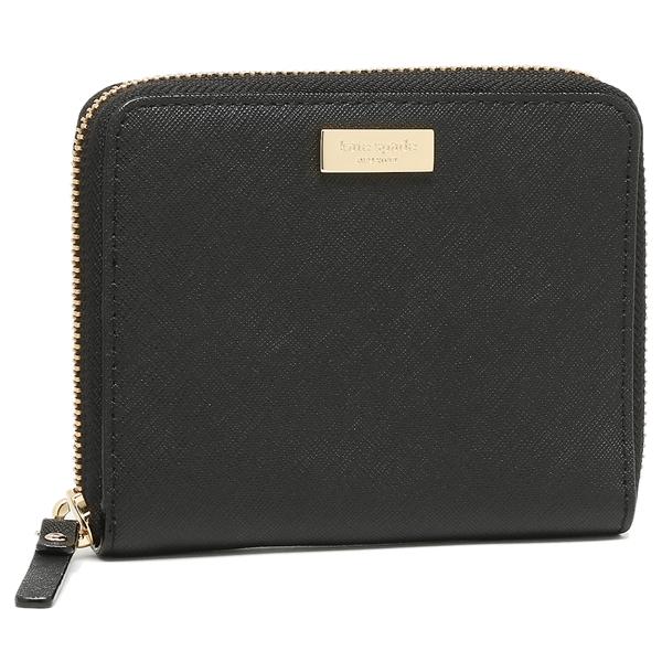 ケイトスペード 折財布 レディース アウトレット KATE SPADE WLRU2909 001 ブラック