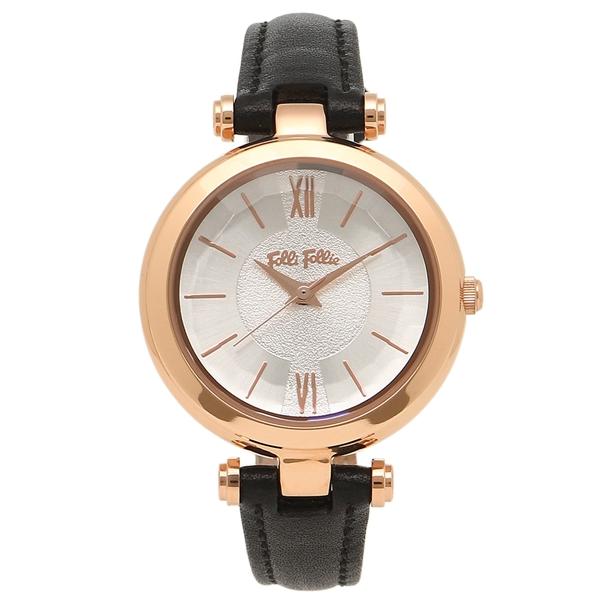 フォリフォリ レディース 腕時計 FOLLI FOLLIE WF16R009SPS-BK ローズゴールド ブラック
