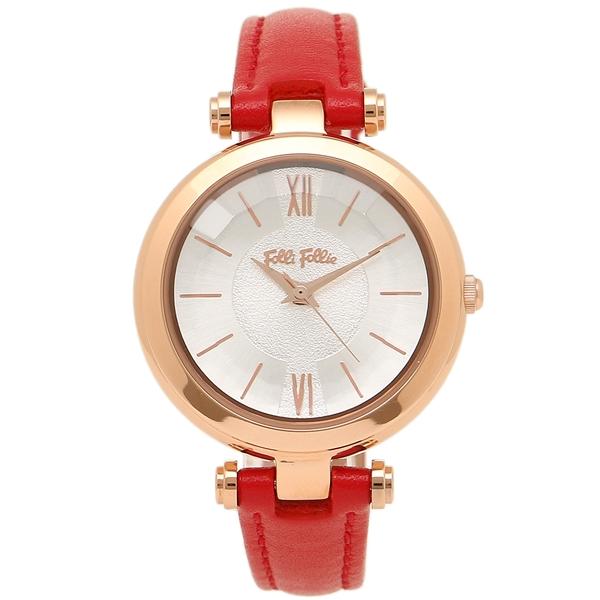 フォリフォリ レディース 腕時計 FOLLI FOLLIE WF16R009SPS-DR ローズゴールド レッド