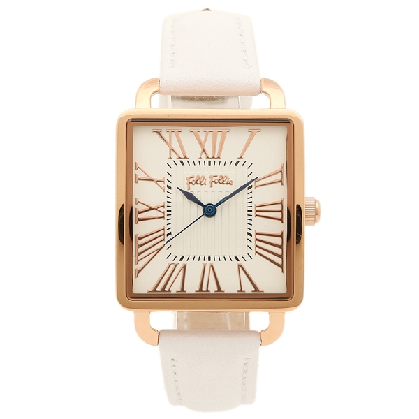 フォリフォリ レディース 腕時計 FOLLI FOLLIE WF16R012SPS-WH ホワイト ローズゴールド