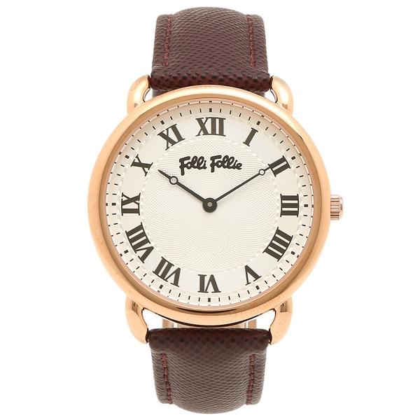 フォリフォリ レディース 腕時計 FOLLI FOLLIE WF16R013SPS-BR ホワイト ローズゴールド ブラウン