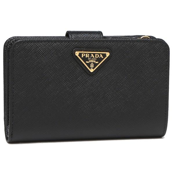 プラダ レディース 二つ折り財布 PRADA 1ML225 QHH F0002 ブラック