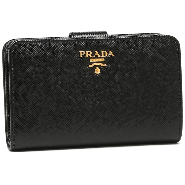 PRADA プラダ 折り財布 レディース 1ML225 QWA F0002 ブラック