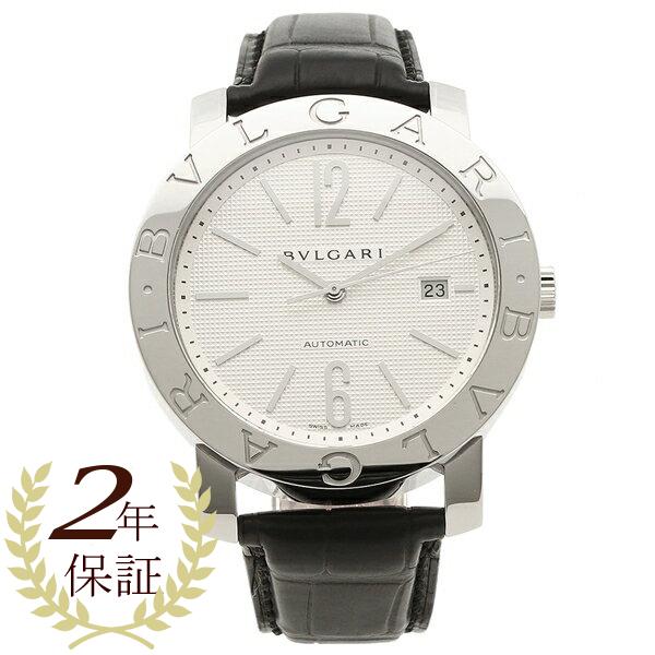 ブルガリ 腕時計 メンズ BVLGARI BB42WSLDAUTO ホワイト シルバー ブラック