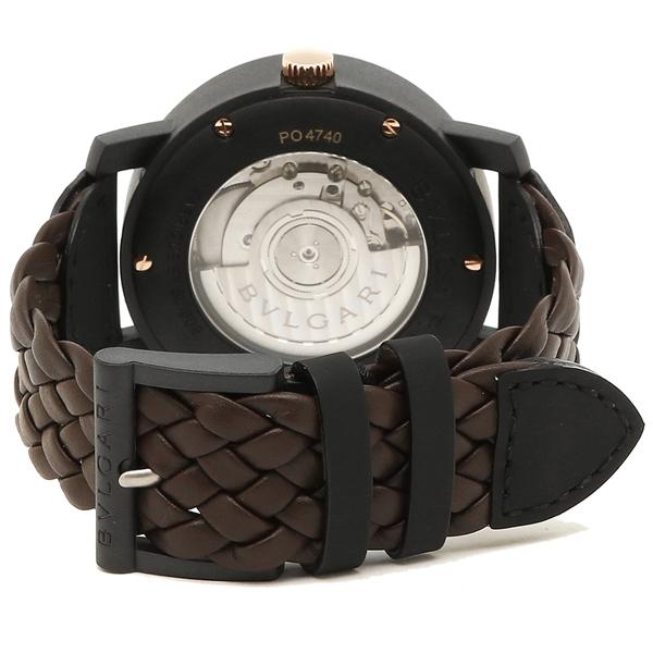 45b2d858612f ブルガリ 腕時計 メンズ BVLGARI BBP40C11CGLD ブラウン ブラック -メンズ腕時計