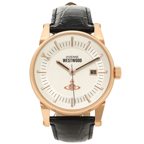 VIVIENNE WESTWOOD ヴィヴィアンウエストウッド 腕時計 メンズ VV065SWHBK ブラック ホワイト