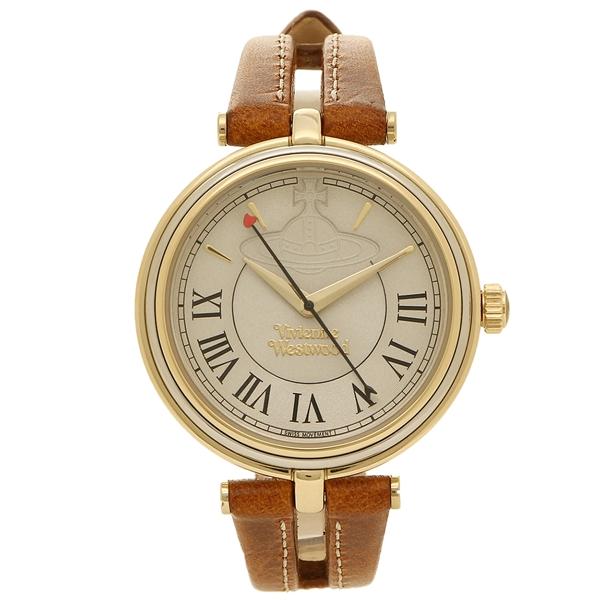 VIVIENNE WESTWOOD ヴィヴィアンウエストウッド 腕時計 レディース VV168GYTN イエローゴールド ブラウン