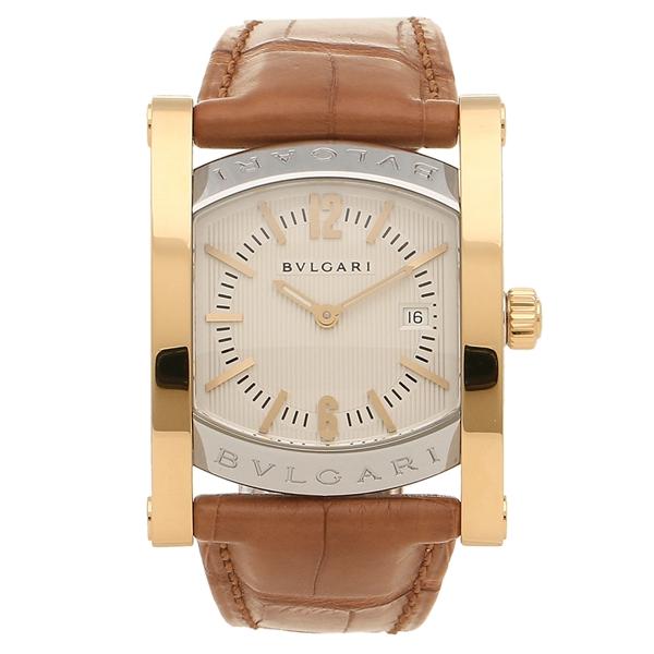 BVLGARI 腕時計 レディース ブルガリ AA39C6SGLD イエローゴールド シルバー ブラウン