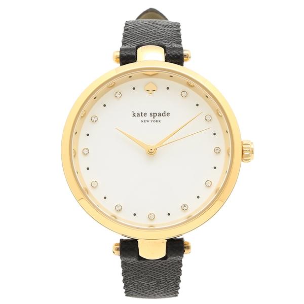 ケイトスペード 腕時計 レディース KATE SPADE KSW1356 ブラック イエローゴールド ホワイト