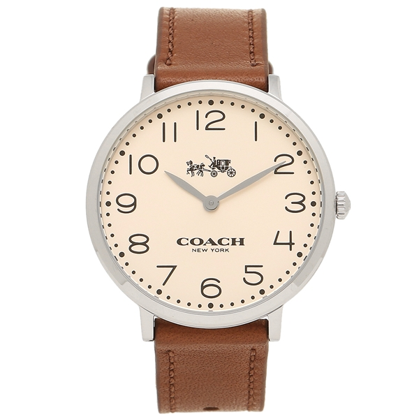 COACH コーチ 時計 レディース 14502682 ベージュ ブラウン シルバー