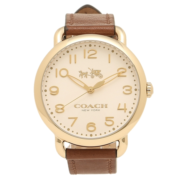 COACH コーチ 腕時計 レディース 14502715 ブラウン ホワイト イエローゴールド