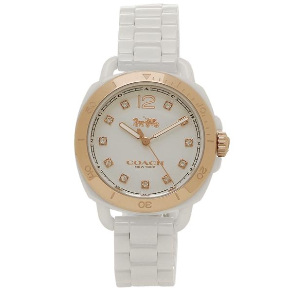 COACH コーチ 腕時計 レディース 14502752 ホワイト イエローゴールド