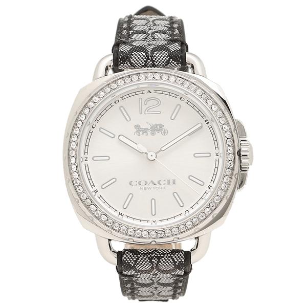 COACH コーチ 腕時計 レディース 14502769 ブラック シルバー