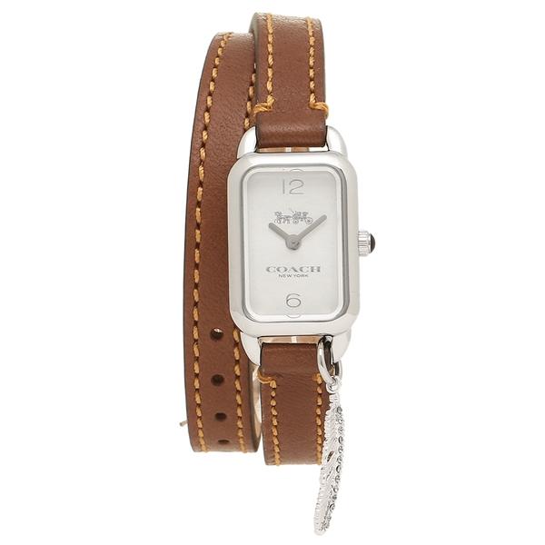 COACH コーチ 腕時計 レディース 14502775 シルバー サドルブラウン