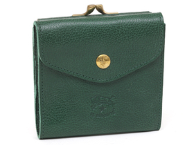 IL BISONTE イルビゾンテ C0423P 二つ折り財布 レディース レザー 293 GREEN/GOLD グリーン/ゴールド