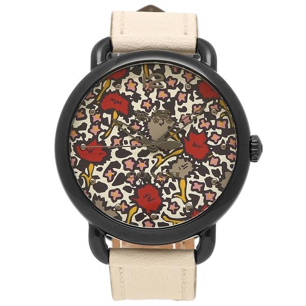 コーチ 腕時計 アウトレット レディース COACH W6212 CHK ホワイト ブラック フラワーマルチ