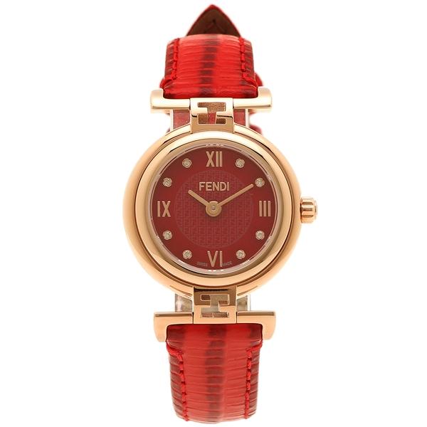 FENDI 腕時計 レディース フェンディ F275277BD レッド ピンクゴールド