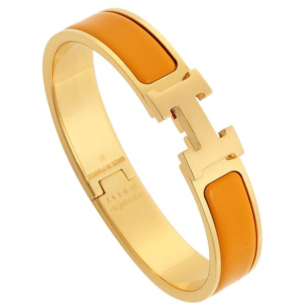 HERMES エルメス ブレスレット アクセサリー レディース H700001F 1R ゴールド オレンジ