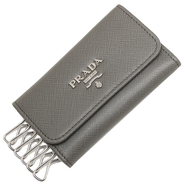PRADA プラダ キーケース レディース 1PG222 QWA F0K44 グレー
