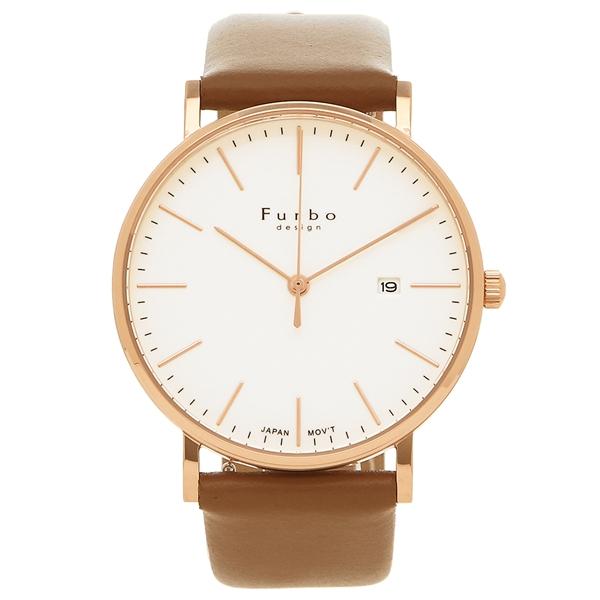 Furbo design 腕時計 メンズ フルボデザイン F02-PIVLB ブラウン ピンクゴールド アイボリー
