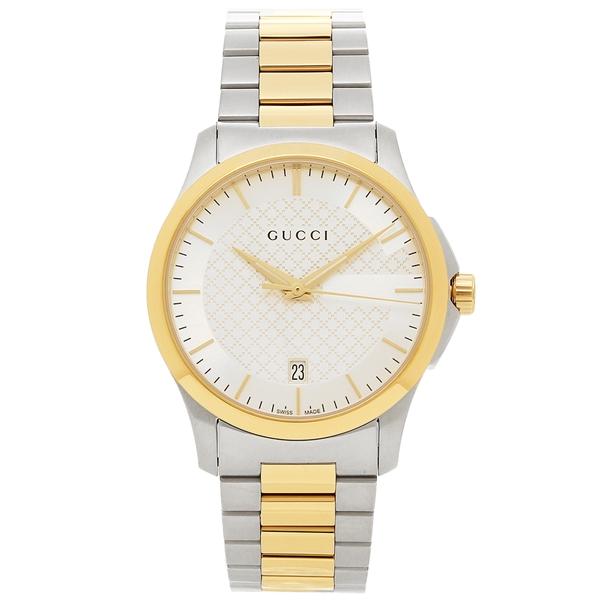GUCCI 腕時計 メンズ グッチ YA126474 イエローゴールド シルバー