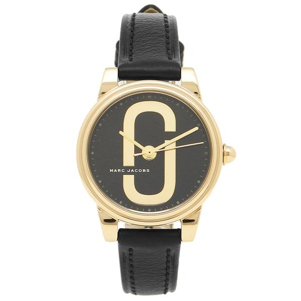 MARC JACOBS 腕時計 レディース マークジェイコブス MJ1580 ブラック イエローゴールド