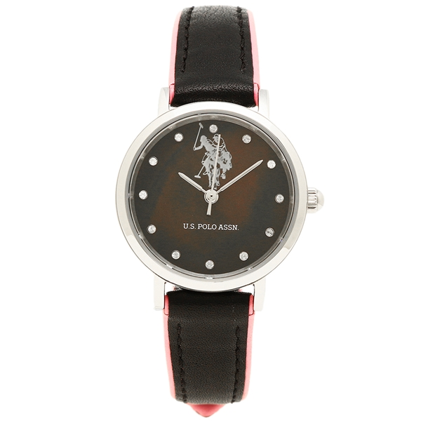 ユーエス ポロ 時計 レディース メンズ US POLO ASSN US-2A-BK ブラックシェル ブラック ピンク