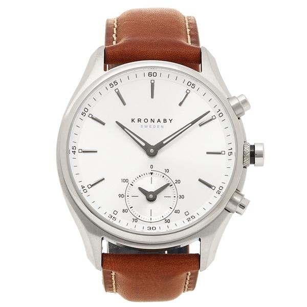 クロナビー 腕時計 KRONABY A1000-1901 シルバー ブラウン
