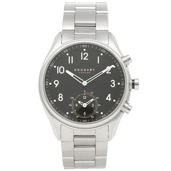 クロナビー 腕時計 KRONABY A1000-1911 ブラック シルバー