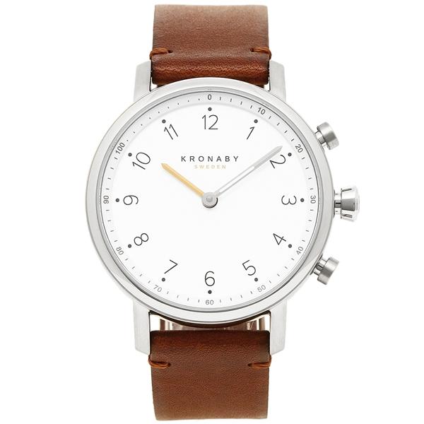 クロナビー 腕時計 KRONABY A1000-1913 ホワイト ダークブラウン