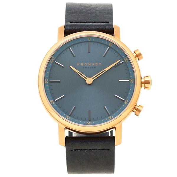クロナビー 腕時計 KRONABY A1000-1919 ネイビー ローズゴールド