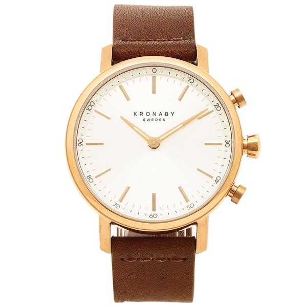 クロナビー 腕時計 KRONABY A1000-1921 シルバー ローズゴールド ダークブラウン