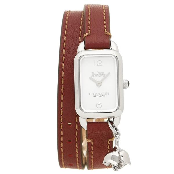 COACH コーチ 腕時計 レディース 14502777 ブラウン シルバー ホワイト