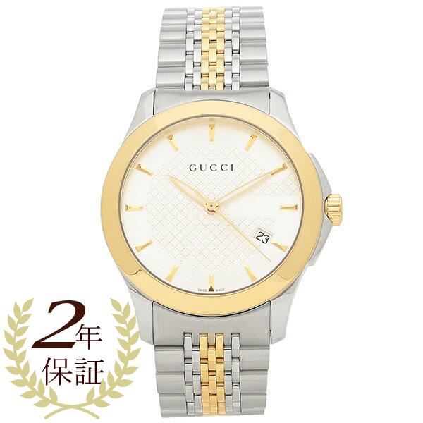 グッチ 腕時計 GUCCI YA126409 Gタイムレス ホワイト/ゴールド/シルバー メンズウォッチ