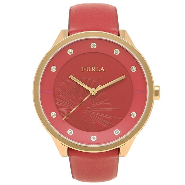 FURLA フルラ 腕時計 レディース R4251102521 899515 バーガンディレッド イエローゴールド