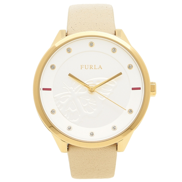 FURLA フルラ 腕時計 レディース R4251102529 ベージュ ホワイト イエローゴールド