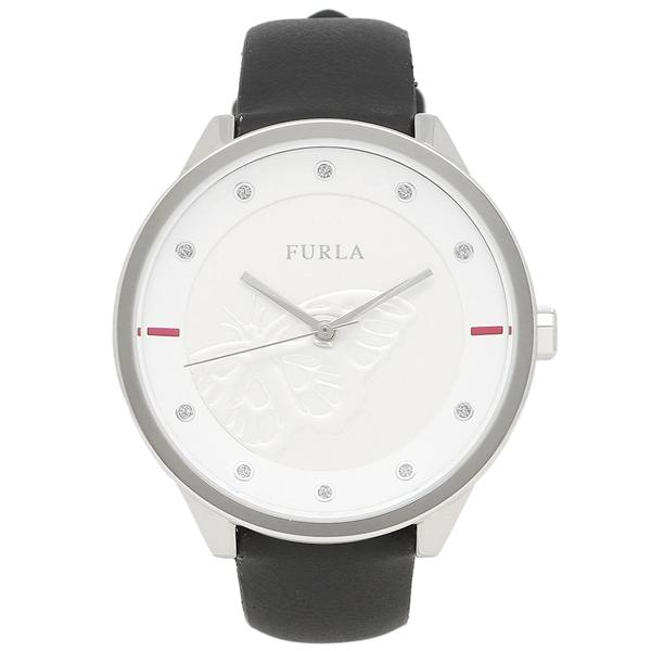 FURLA フルラ 腕時計 レディース R4251102530 ブラック ホワイト シルバー