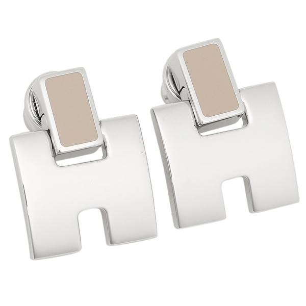 HERMES エルメス ピアス アクセサリー レディース H616201FP 55 ベージュ シルバー