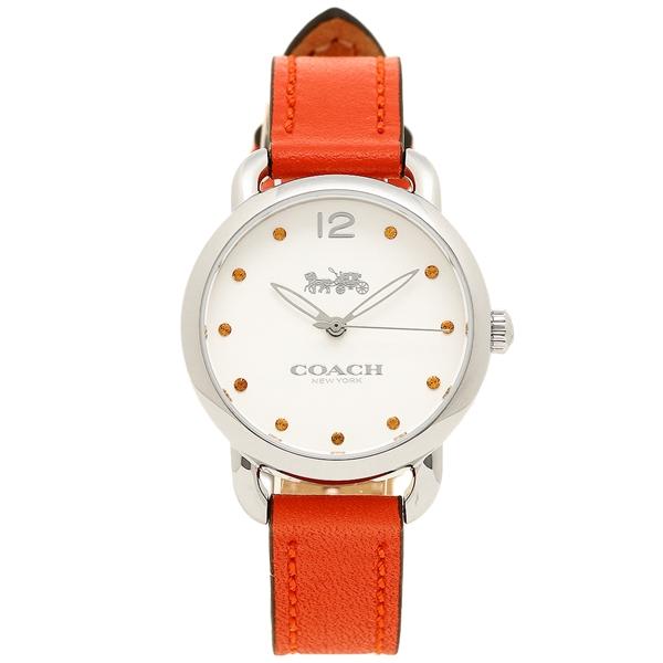 COACH コーチ 腕時計 レディース 14502907 オレンジ ホワイト シルバー