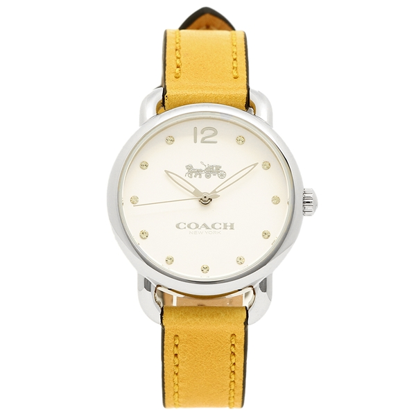 COACH コーチ 腕時計 レディース 14502909 ライトブラウン ホワイト シルバー