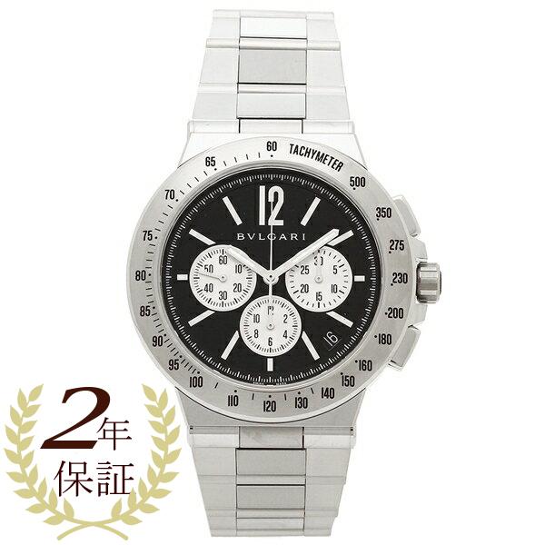 BVLGARI 腕時計 メンズ ブルガリ DG41BSSDCHTA ブラック シルバー
